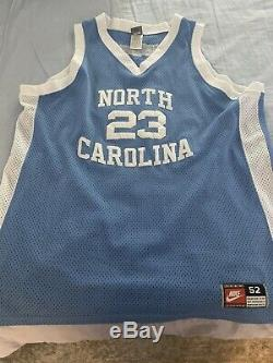 Vintage Authentic Nike UNC North Carolina Tar Heels Michael Jordan Jersey 52