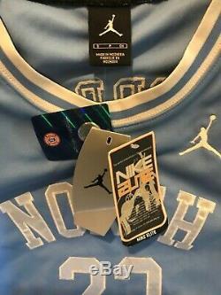 Vintage NWT Nike Elite #23 Michael Air Jordan NCAA UNC Tarheels Stitched Jersey