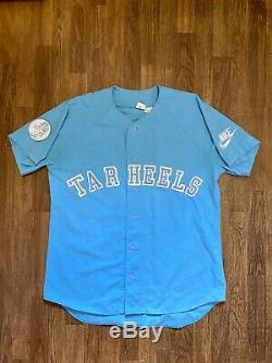 Vintage Nike North Carolina Tarheels UNC Jordan Baseball Jersey Large Grey Tag