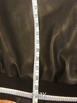 Vintage North Carolina Tar Heels Leather Jacket UNC GIII Sports By Carl Banks XL