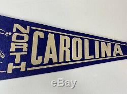 Vintage North Carolina Tarheels Football Felt Pennant Blue White Old 1940s UNC