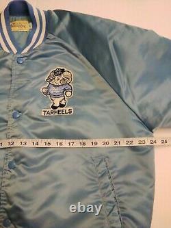 Vintage North Carolina UNC Tar Heels Chalk Line Large Satin Bomber Jacket