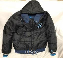 Vintage Pro Player UNC North Carolina Tar Heels Reversible Puffer Jacket Size XL
