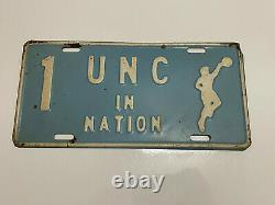 Vintage RARE UNC Tar Heels 1957 NCAA Basketball National Champs license plate