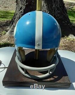 Vintage Riddell 70's UNC Tar Heels Kra-Lite Football Helmet Lamp Rare! Full Size