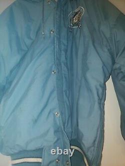 Vintage Starter Jacket Parka North Carolina Tar Heels UNC Size Large Jordan