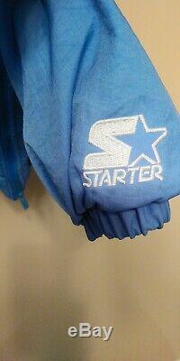 Vintage Starter UNC North Carolina Tar Heels 1/2 Zip Pullover Jacket Size L