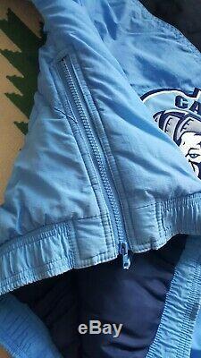 Vintage Starter UNC North Carolina Tar Heels Half Zip Pullover Jacket Large
