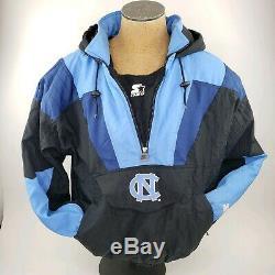 Vintage Starter UNC North Carolina Tar Heels Half Zip Pullover Jacket X Large XL