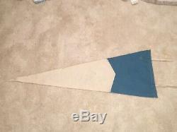 Vintage UNC North Carolina Tar Heels Blue Felt Pennant 12 x 30