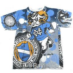 Vintage UNC North Carolina Tarheels All Over Print T-shirt 1992 Michael Jordan O