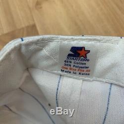 Vintage UNC Tar Heels Starter Pinstripes Snapback Hat Cap Michael Jordan 90s