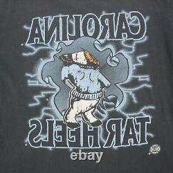 Vtg 90s UNC Tarheels Ram Break Through T-Shirt Faded Single Stitch USA sz L