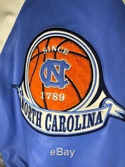 Vtg North Carolina Tar Heels UNC LEATHER JACKET Medium Patches Front & Back