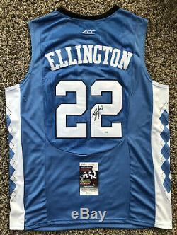 Wayne Ellington Signed UNC Tar Heels Jersey JSA COA #22 Knicks Heat NBA RARE