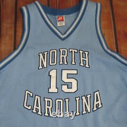 100% Authentique Nike North Carolina Tar Heels Vince Carter Jersey Sz 52 Road Unc