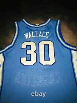 100% Authentique Unc Tar Talons Rasheed Wallace Jersey Sz 48 North Carolina Custom
