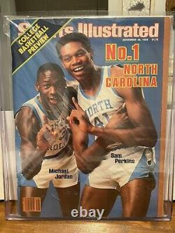 11 28 1983 Sports Illustrés Michael Jordan Sam Perkins Unc Tar Talons Witho Label