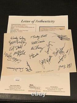 1974-75 Unc Tarheels Basketball Team Signed Page Full Jsa Loa Auto 1/1 Vintage