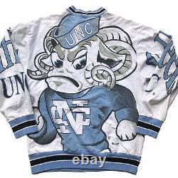 1980s Caroline Du Nord Tar Heels Rare Vintage Années 80 Unc All Over Print Sweatshirt