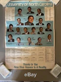 1982-1983 82-83 Heels Unc Tar Basketball Saison Calandre Poster Michael Jordan