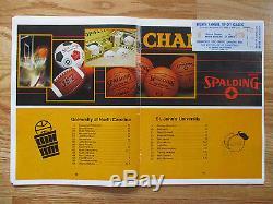 1982 Tip-off Classic IV Unc Tarheels St. Programme John's Avec Ticket Michael Jordan