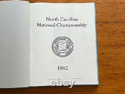 1982 Unc North Carolina National Champion Yearbook Tar Heels Jordan Worthy Perk