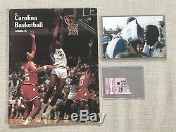 1982 Unc Tarheels Carolina Basketball Pré-recrue Michael Jordan Vintage Auto 1/1