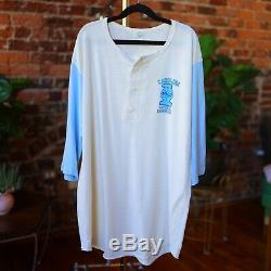 1982 Vtg Carolina Tar Heels Shirt Mince Henley Michael Jordan Med / Large Années 80 Unc