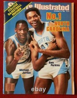 1983 Ncaa Unc Tar Heels Michael Jordan 1ère Couverture! Sports Illustré 11/28