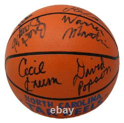 1984 L'équipe De Tarheels A Signé Le Basketball Vintage Jordan+11 Psa/dna Jsa Loa