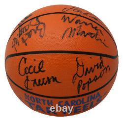 1984 Unc Tarheels Team Signed Basketball Vintage Jordan+11 Psa/dna Jsa Loas