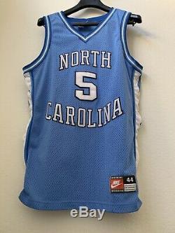 1990 Authentique Nike Unc Tarheels Caroline Du Nord # 5 Jersey L 44 Made In USA Og