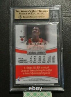 1998-99 Topps Gold Label Gl1 Michael Jordan Bulls Unc Tarheels Bgs 9,5=psa 10