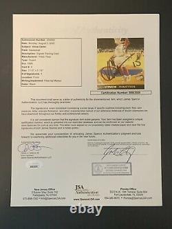 1998 Press Pass Vince Carter Autographié Rookie Jsa Loa Unc Tar Heels