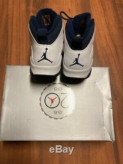 2005 Nike Air Jordan 10 Retro Ice Baby Blue Unc Tarheels Taille 9 310805-141