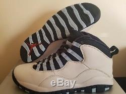 2005 Nike Air Jordan 10 Retro Ice Baby Blue Unc Tarheels Taille 9 Chaussures 310805-141