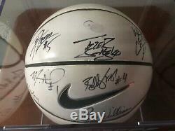2007-2008 Final Four Unc Caroline Du Nord Tar Heels Équipe De Basket-ball Signé