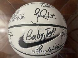 2018-2019 Unc Caroline Du Nord Tar Heels Équipe De Basket-ball Signé