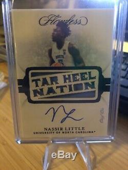 2019-20 Flawless Nassir Petit Tar Heel Nation Unc Vrai 1/1 Auto Autograph