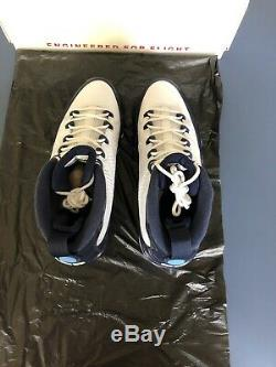 2019 Nike Air Jordan 9 Retro Sz 10.5white Bleu Bleu Unc Tarheels 302370-145