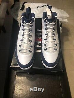 2019 Nike Air Jordan 9 Retro Sz 10 Carolina Blanc Bleu Unc Tarheels