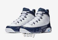 2019 Nike Air Jordan 9 Retro Sz 11 Blanc Carolina Blue Unc Tarheels 302370-145