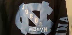 250 $ Nike Jordan Unc North Carolina Tar Heels Satin Cousu Bomber Mens Grand
