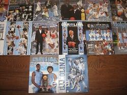 35 1985-2019 Unc Caroline Du Nord Tar Heels Basketball Médias Guides Incredible Lot