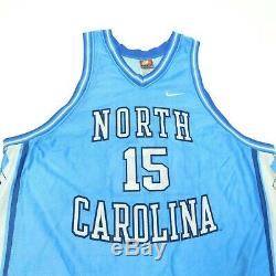 90 Vtg Nike Made In USA Unc Tar Heels Vince Carter 15 Caroline Du Nord Jersey XXL