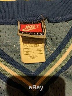 90 Vtg North Carolina Tar Heels Rasheed Wallace Nike Jersey Unc Sz 40 Authentique