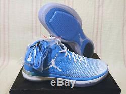 9,5 Nike Air Jordan 31 XXXI Low Unc Tarheels Pe Caroline Du Nord 897564 407 Ds