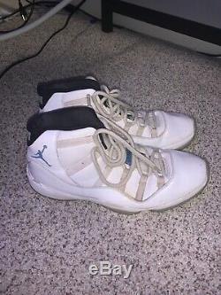 Air Jordan 11 Retro XI Légende Unc Bleu Blanc Heels Tar Taille Homme 13
