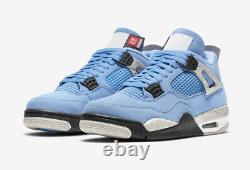 Air Jordan 4 Université Bleu Hommes 15 Nike Ct8527-400 Retro Nba Unc Tar Talon